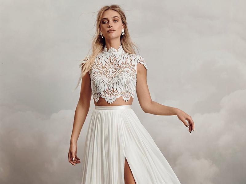 Catherine Deanne Tara Skirt Revelle Bridal Trunk Show Boho Bride Bohemian