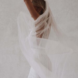 Made With Love Holly Veil Revelle Bridal Single Layer Cathedral Veil Boho Bride Modern Minimalist