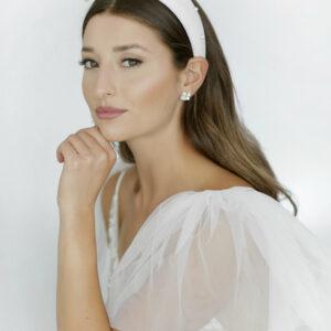 Revelle Bridal BLVD ottawa wedding accessories white pearl headband velvet hair accessories